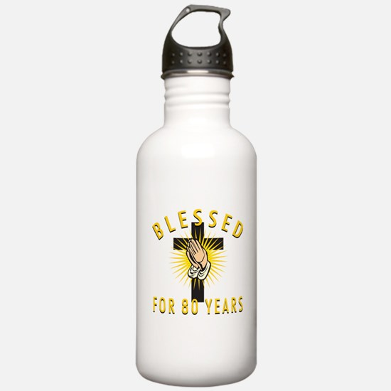 Blessed For 80 Years Water Bottle
