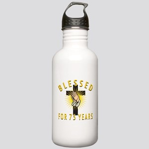 Blessed For 75 Years Stainless Water Bottle 1.0L