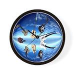 Floating Guitars Wall Clock
