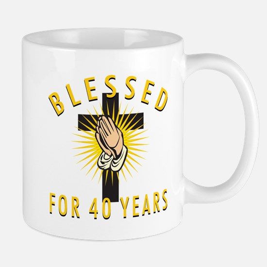 Blessed For 40 Years Mug