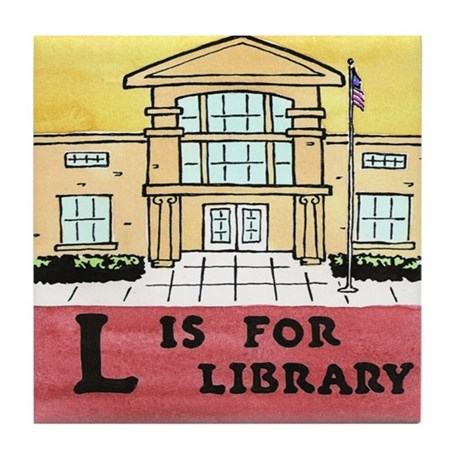L is for Library Tile Coaster