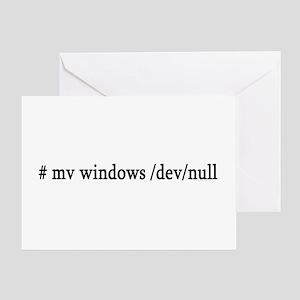 # mv windows /dev/null Greeting Card
