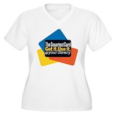 Women's Plus Size V-Neck Smartest Card T-Shirt