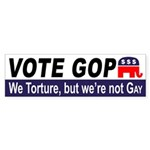 GOP: We torture but we're not gay (sticker)