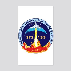 STS 133 Discovery Sticker (Rectangle)