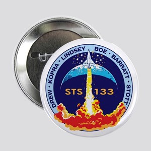 """STS 133 Discovery 2.25"""" Button"""