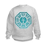 Dharma Blue Ankh Kids Sweatshirt