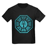 Dharma Blue Ankh Kids Dark T-Shirt