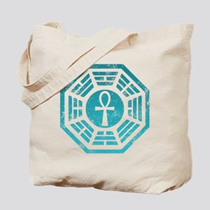 Dharma Blue Ankh Tote Bag