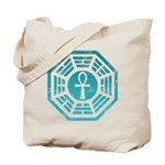 Dharma Blue Ankh Tote Bag