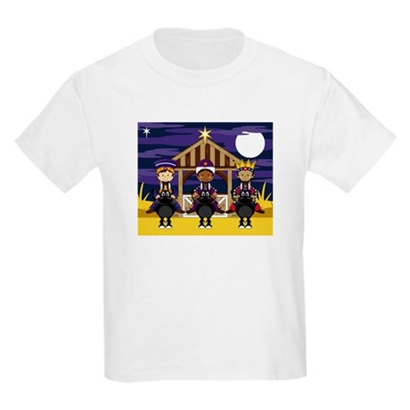 Three Nativity Kings Kids Light T-Shirt