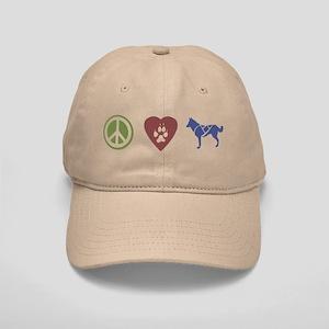 Peace, Love & Sled Dogs Cap