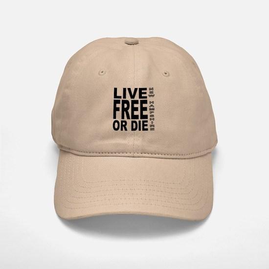 Live Free or Die Baseball Baseball Cap