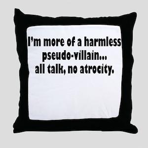 Psuedo Villain Throw Pillow