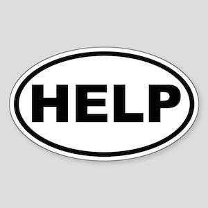 HELP Oval Sticker