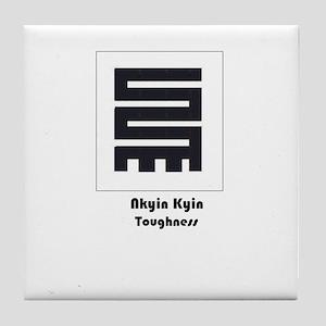 Adinkra Tile Coaster - Determination