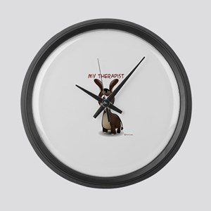 My Therapist Large Wall Clock