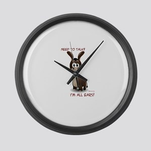 I'm All Ears Large Wall Clock