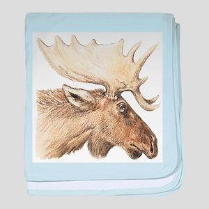 moose drawing baby blanket