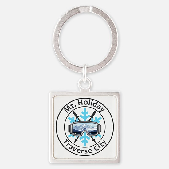 Funny Traverse city Square Keychain