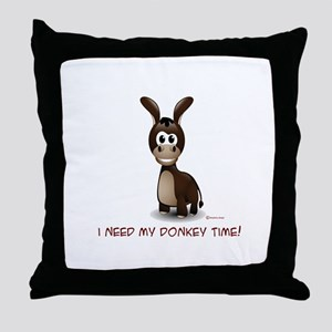 Donkey Time Throw Pillow