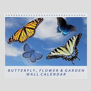 Assorted Butterfly Photography Wall Calendar