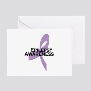 Epilepsy Awareness Ribbon Greeting Card