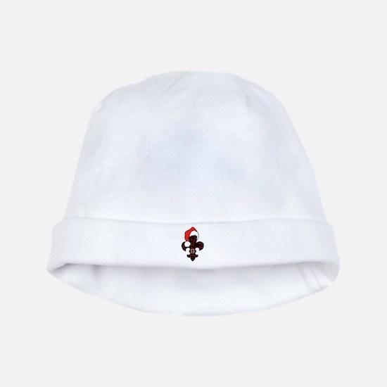Fleur de lis Santa (red) baby hat