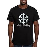 Winter Caching Men's Fitted T-Shirt (dark)