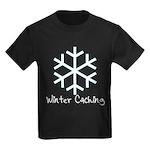 Winter Caching Kids Dark T-Shirt
