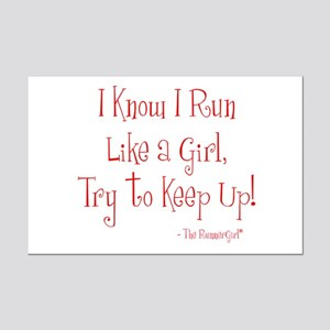 Mini Poster Print - Run Like a Girl