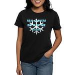 Real Cachers-Blue Women's Dark T-Shirt