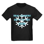 Real Cachers-Blue Kids Dark T-Shirt