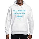 Real Cachers-Blue Hooded Sweatshirt
