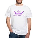 Kayak Princess-Purpel White T-Shirt