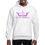 Kayak Princess-Purpel Hooded Sweatshirt