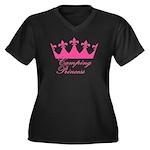 Camping Princess-Pink Women's Plus Size V-Neck Dar