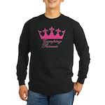 Camping Princess-Pink Long Sleeve Dark T-Shirt