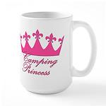 Camping Princess-Pink Large Mug