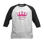 Camping Princess-Pink Kids Baseball Jersey