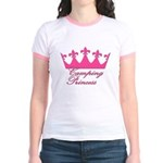 Camping Princess-Pink Jr. Ringer T-Shirt