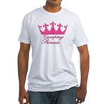 Camping Princess-Pink Fitted T-Shirt