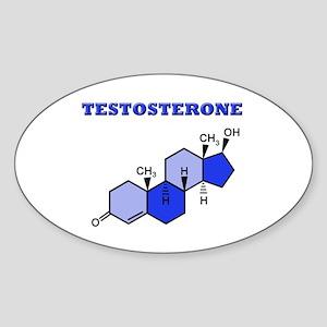 Testosterone Sticker (Oval)