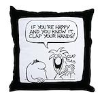 Oddbox Happy Clap Throw Pillow