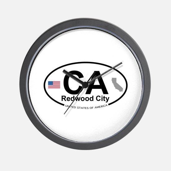Redwood City Wall Clock
