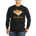 Old School Turntable Long Sleeve Dark T-Shirt