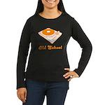 Old School Turntable Women's Long Sleeve Dark T-Sh