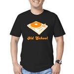 Old School Turntable Men's Fitted T-Shirt (dark)