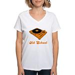 Old School Turntable Women's V-Neck T-Shirt
