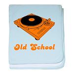 Old School Turntable baby blanket